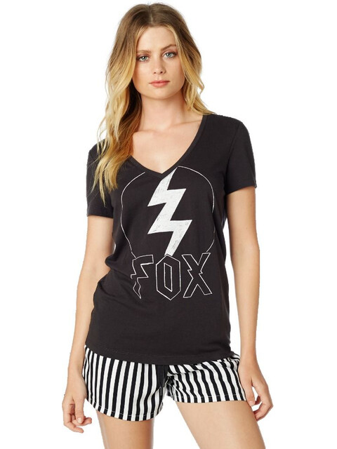 Fox Repented Short Sleeve T-Shirt Women black vintage